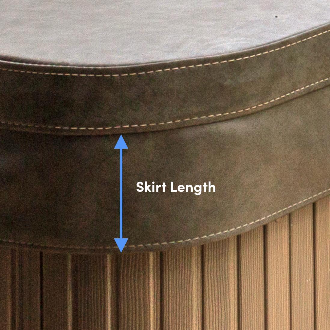 Measuring Hot Tub Cover Skirt Length